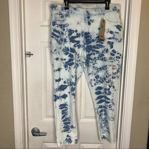 Levi's Acid Wash High Rise Skinny Ankle Jeans